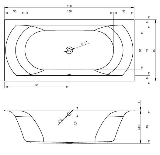 Акриловая ванна Riho Linares 190