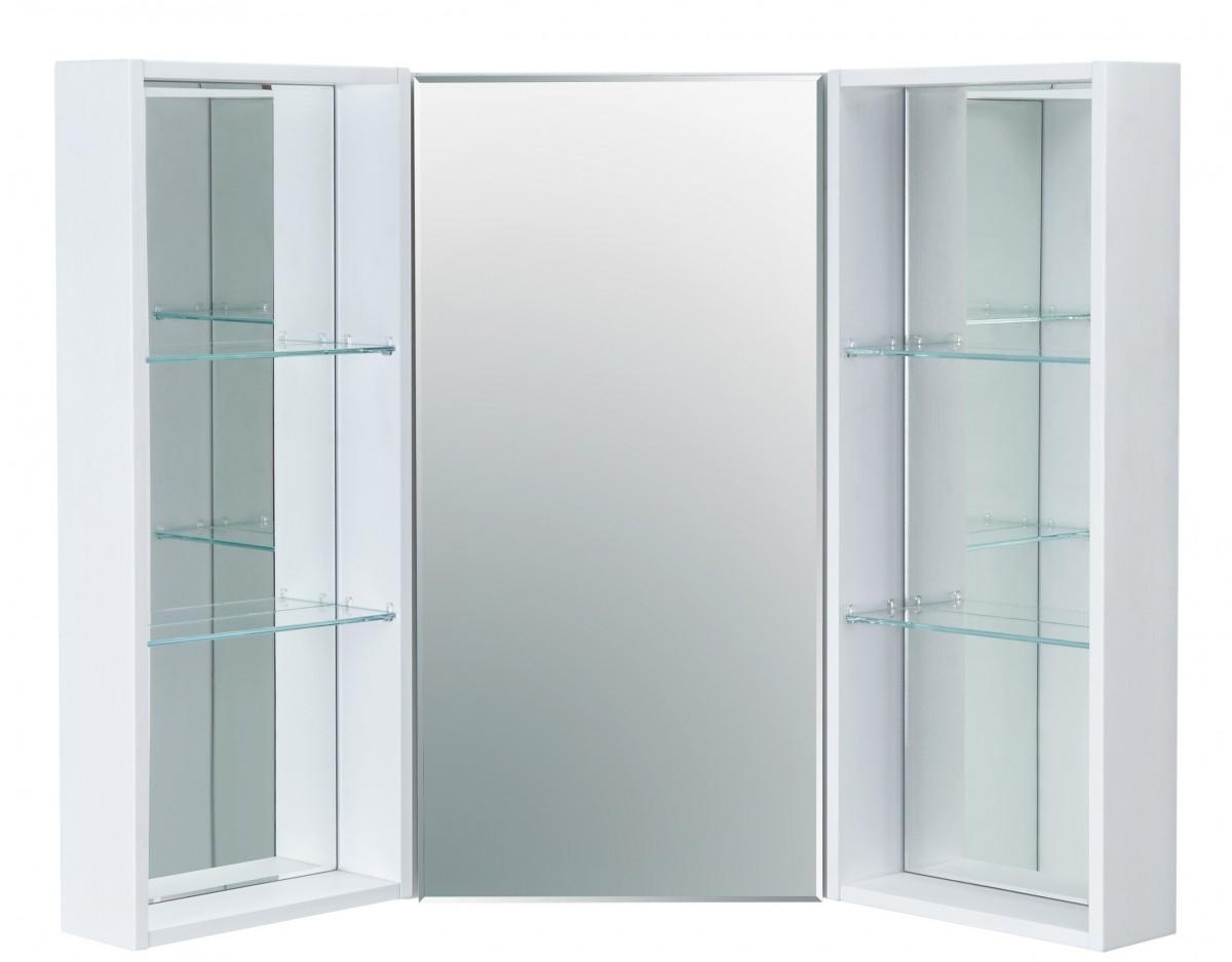 Зеркальный шкаф Акватон Кантара угловой с боковыми модулями