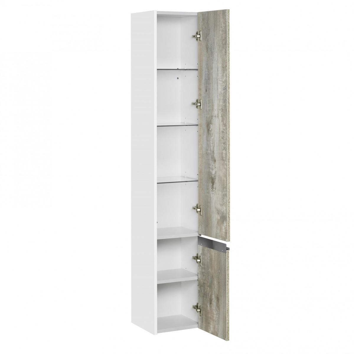 Шкаф-колонна Акватон Капри бетон пайн правая