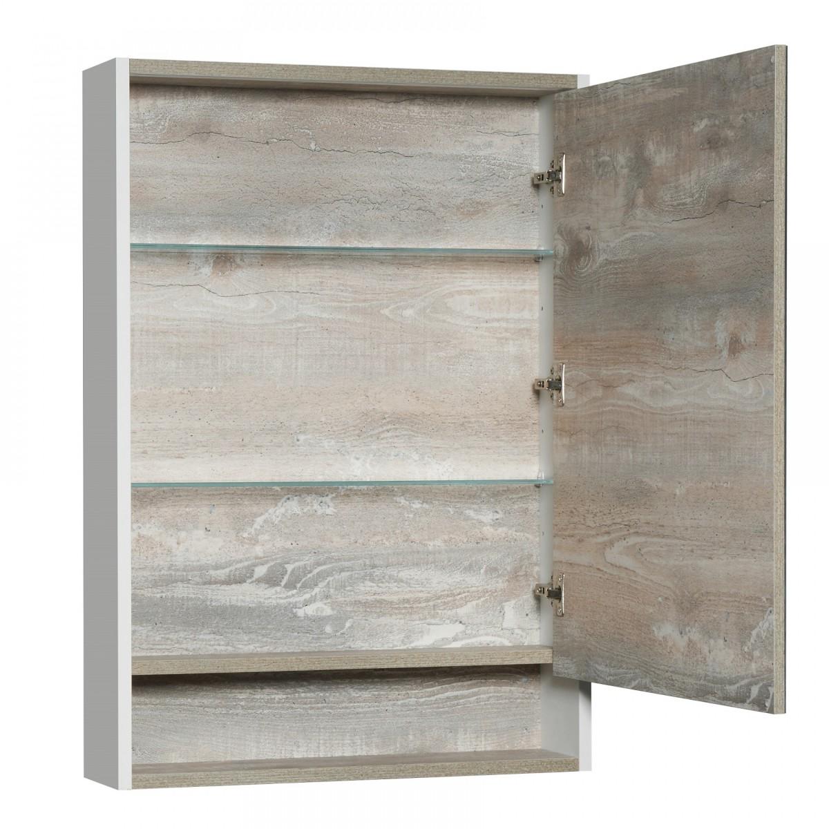 Зеркальный шкаф Акватон Капри 60 бетон пайн