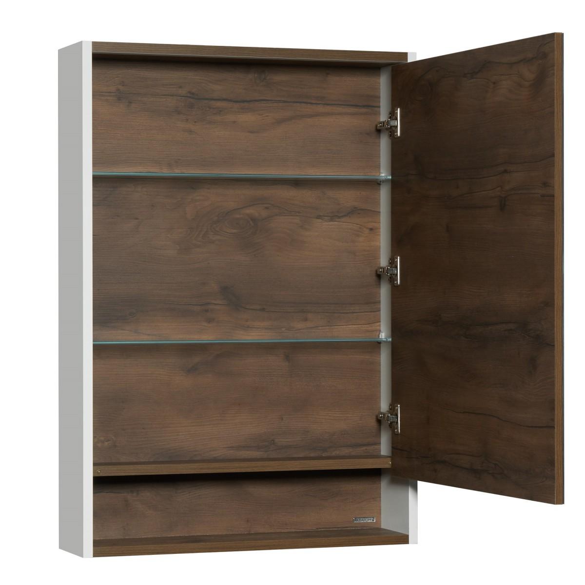 Зеркальный шкаф Акватон Капри 60 темная таксония