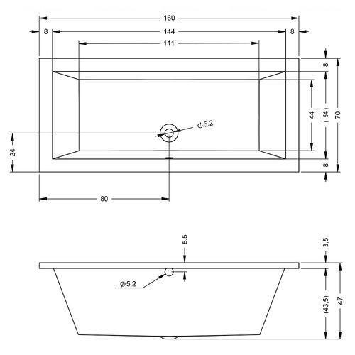 Акриловая ванна Riho Lugo 160