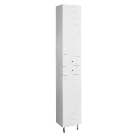 Шкаф-колонна с бельевой корзиной Акватон Минима М правая