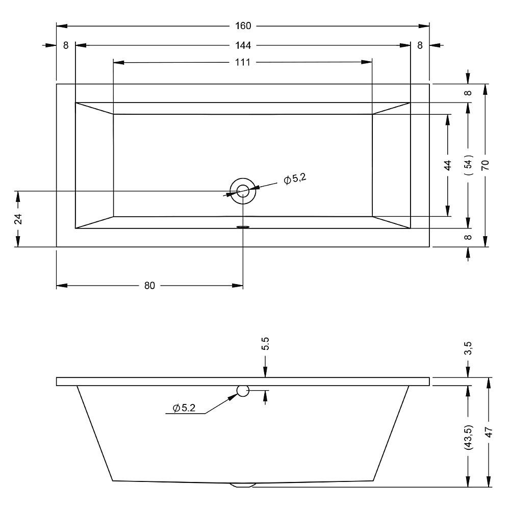 Акриловая ванна Riho Lusso 160