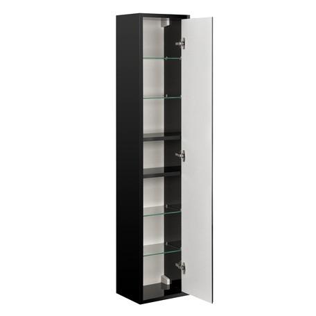 Шкаф-колонна Акватон Римини черная