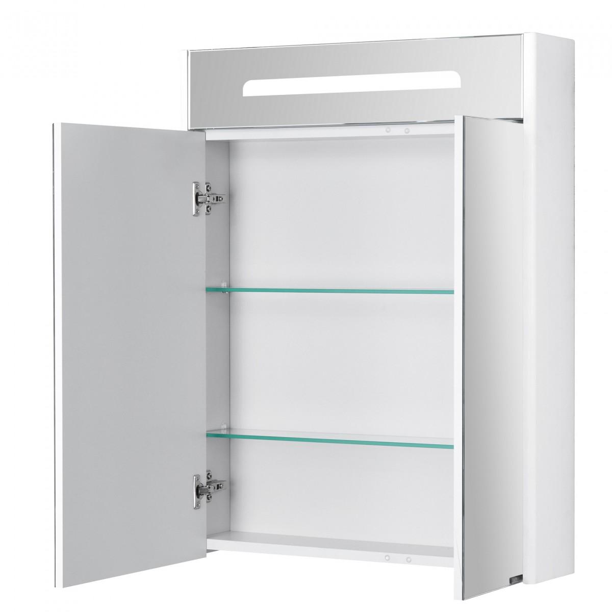 Зеркальный шкаф Акватон Сильва 60 дуб полярный