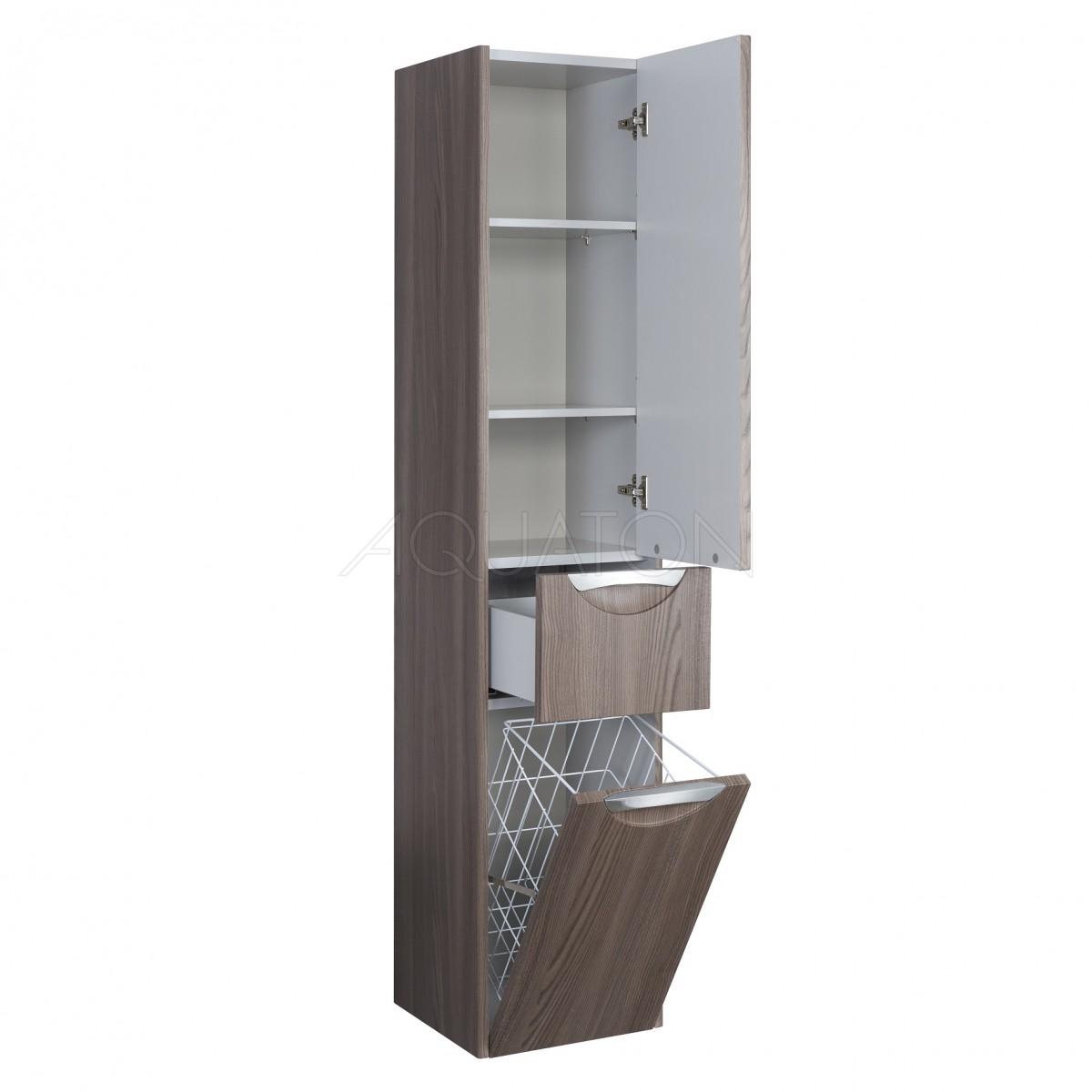 Шкаф-колонна Акватон Сильва дуб макиато правая