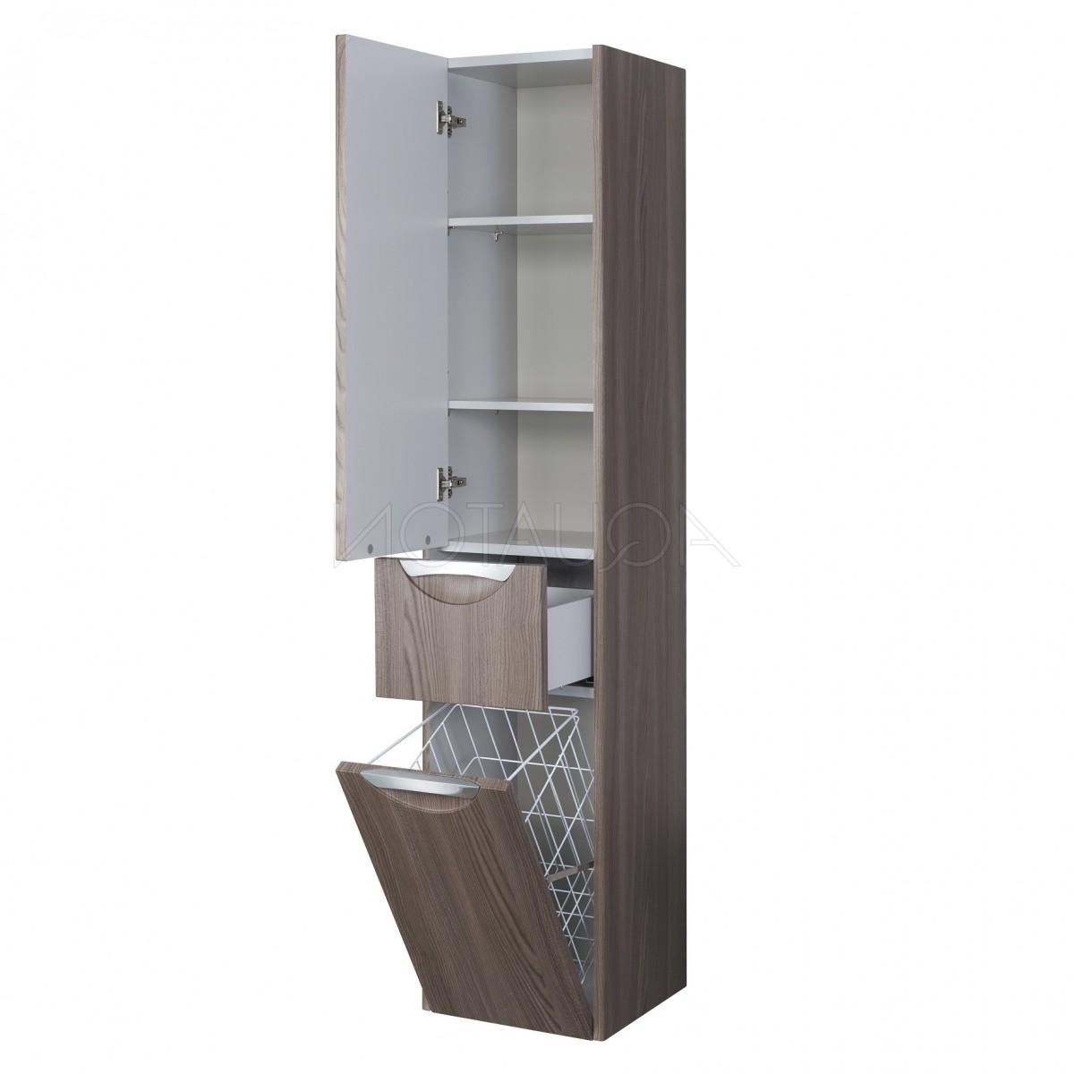 Шкаф-колонна Акватон Сильва дуб макиато левая