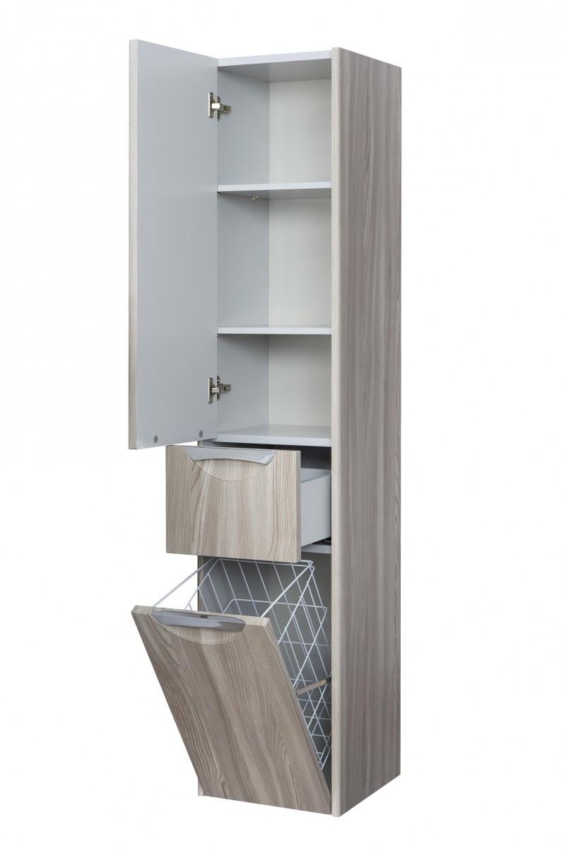Шкаф-колонна Акватон Сильва дуб фьорд левый