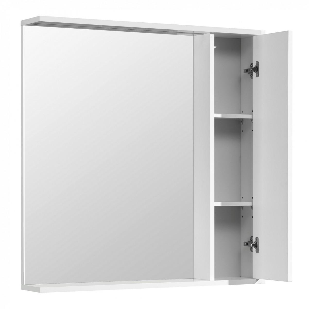 Зеркальный шкаф Акватон Стоун 80 белый
