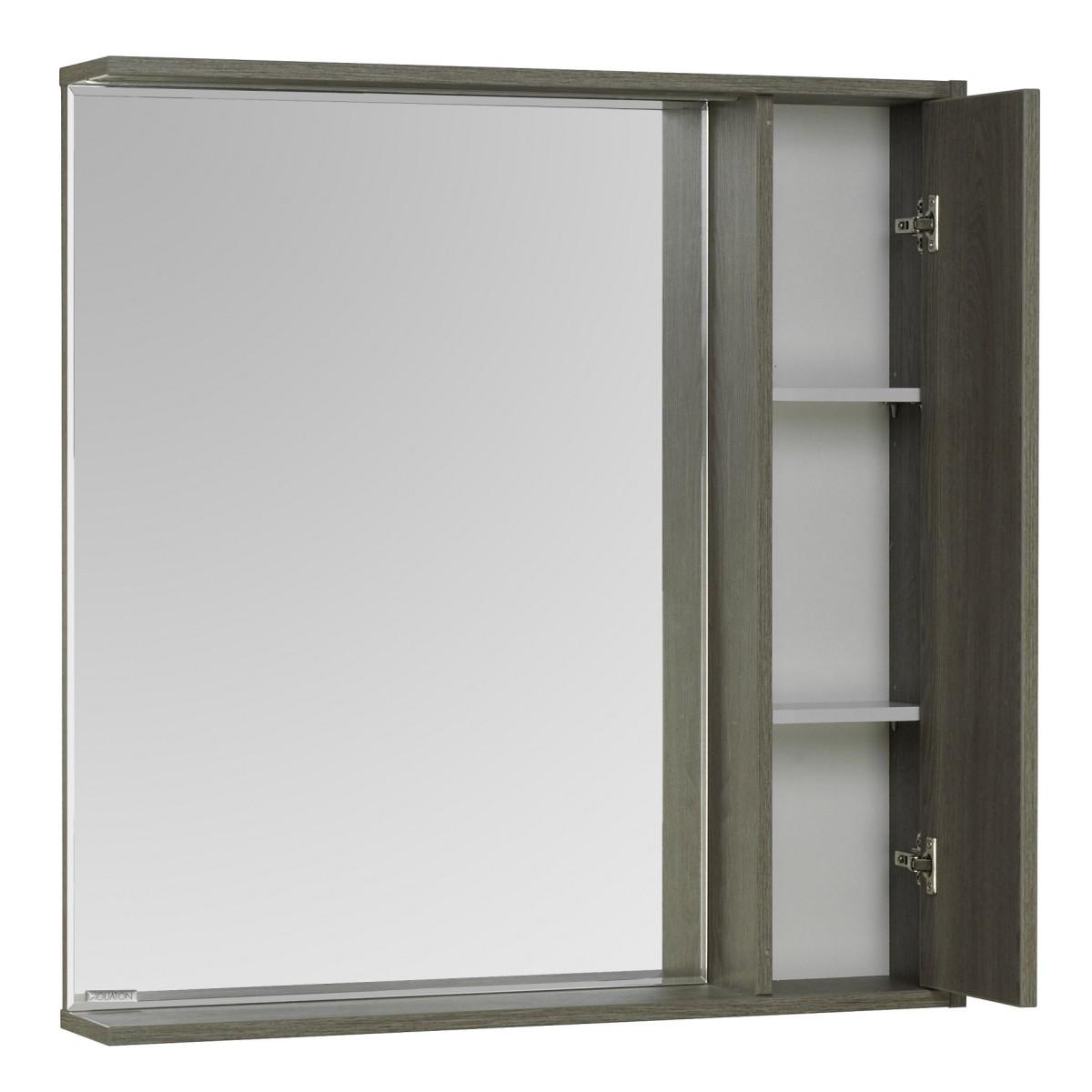 Зеркальный шкаф Акватон Стоун 80 грецкий орех