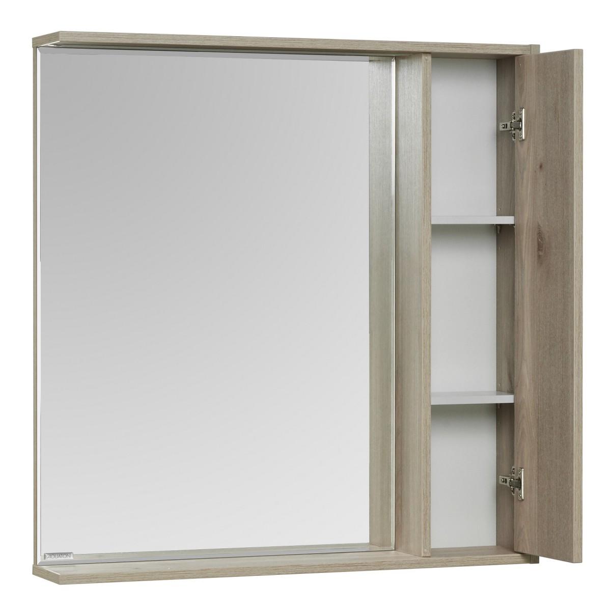 Зеркальный шкаф Акватон Стоун 80 сосна арлингтон