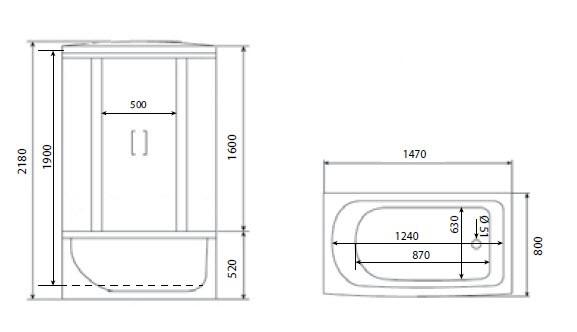 Душевая кабина Timo ECO TE-0750