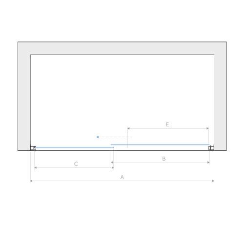 Душевая дверь Vegas Glass ZP Novo 150 прозрачная, белый профиль