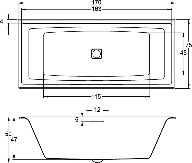 Акриловая ванна Riho Still Square 170