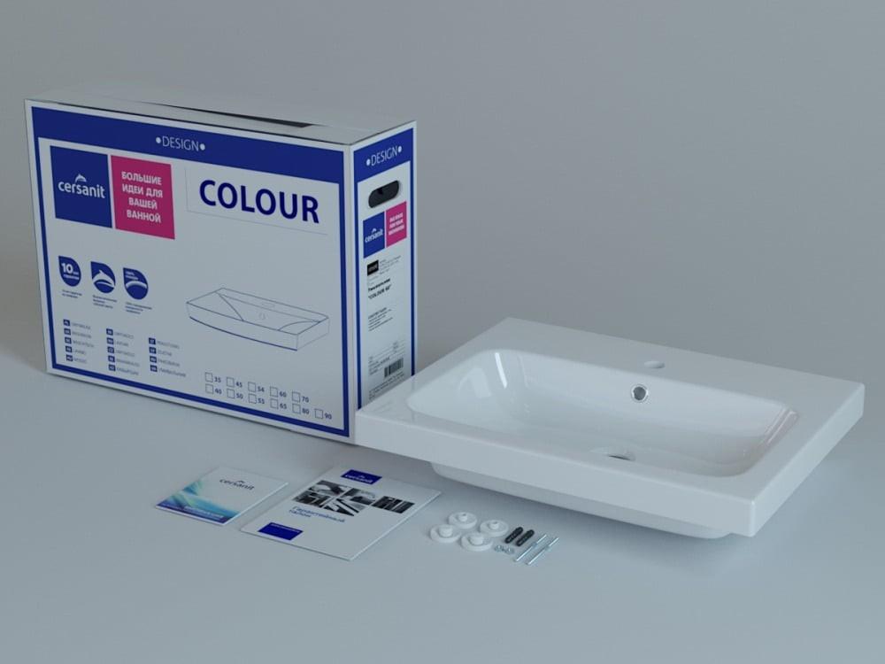 Раковина Cersanit Colour 60