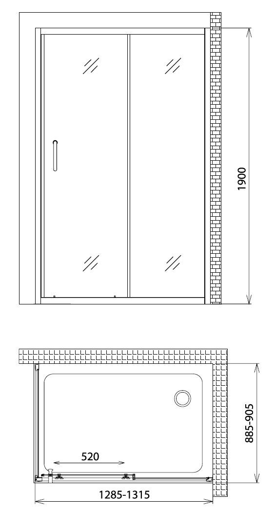 Душевой уголок Gemy Victoria S30191E-A90