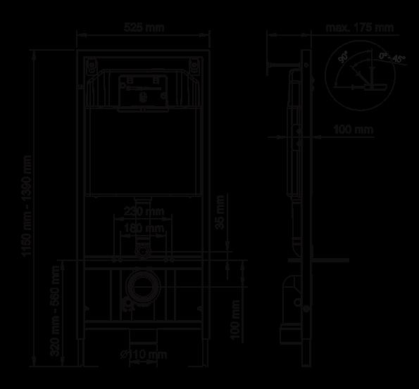 Комплект: инсталляция Berges NOVUM525, кнопка D3 хром глянец, унитаз EGO XL Rimless, сиденье Toma Slim SO