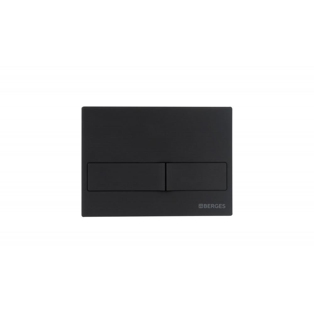 Комплект: инсталляция Berges NOVUM525, кнопка L5 SoftTouch черная, унитаз EGO Rimless, сиденье Toma Slim SO