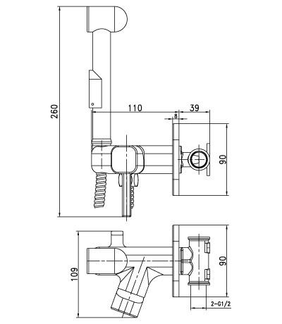Гигиенический душ Lemark Solo LM7165C со смесителем