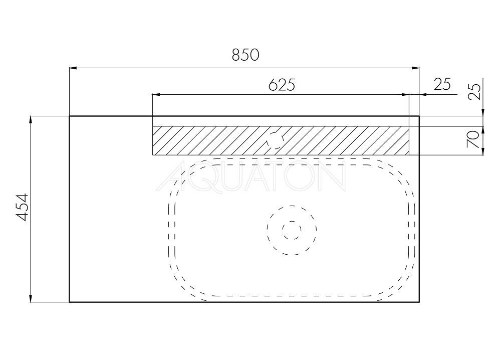 Тумба Акватон Терра 85 с накладной раковиной Infinity 60