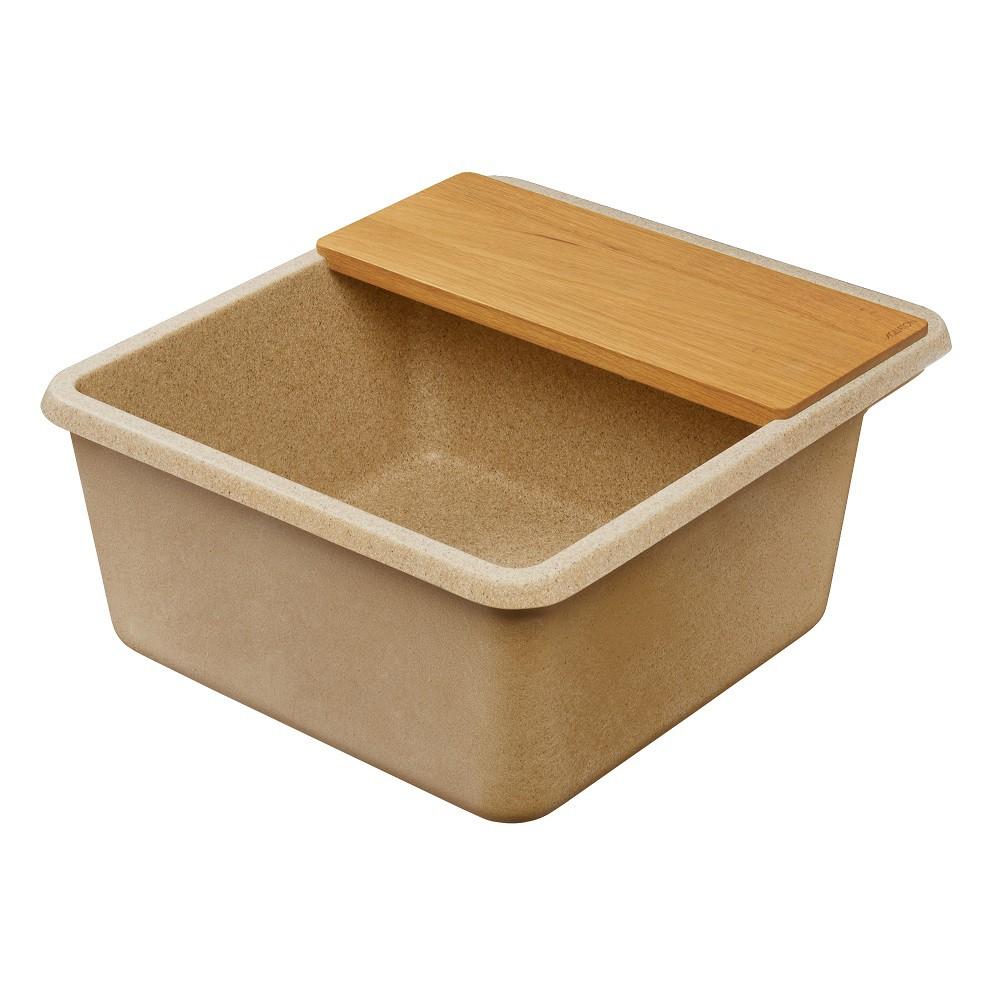 Мойка кухонная Акватон Беллис 57 песочная из литого мрамора