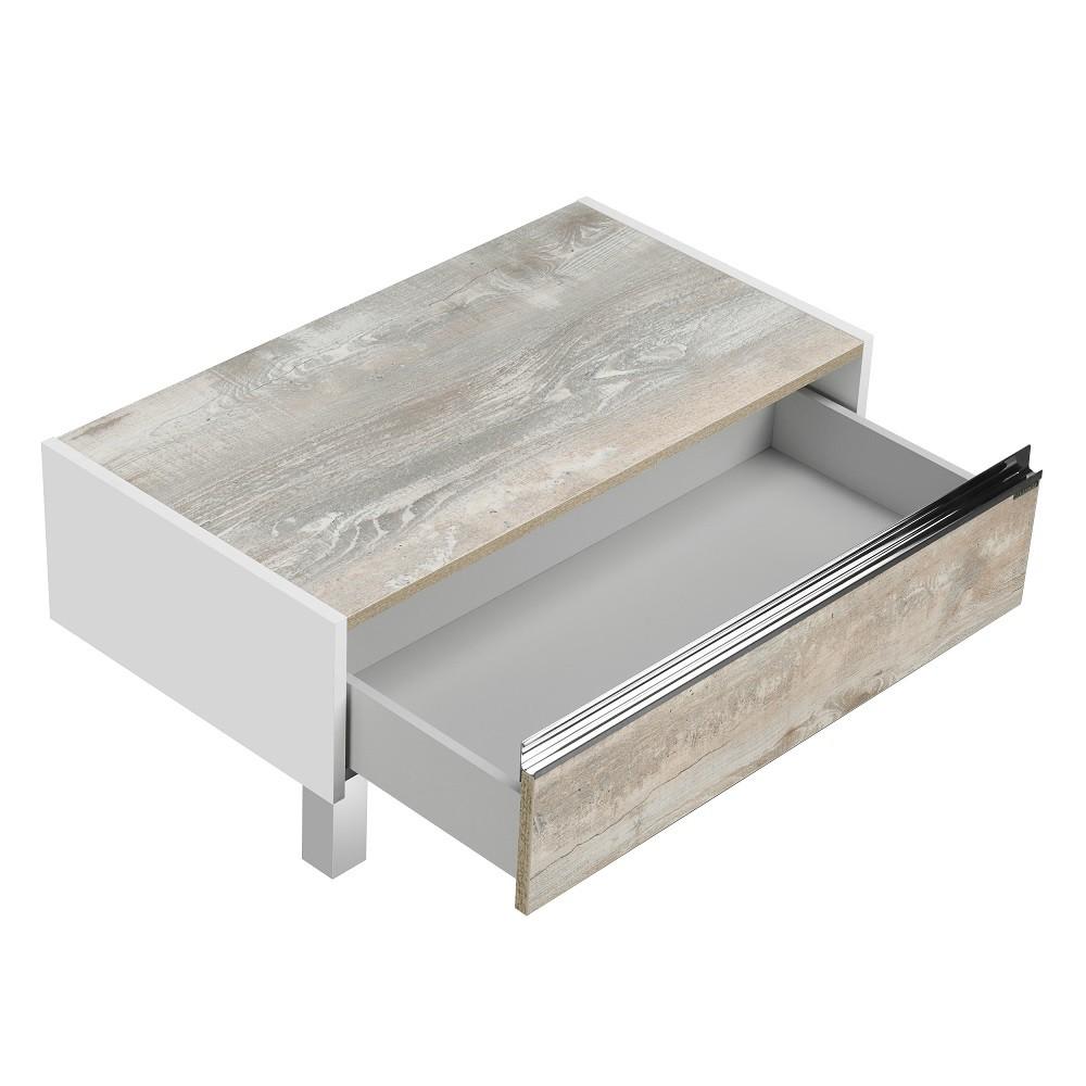 Комод Акватон Капри 80 бетон пайн