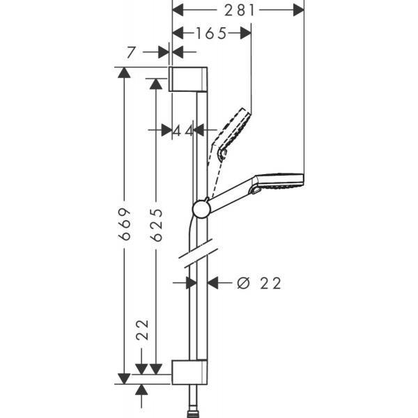 Комплект смесителей Hansgrohe SET Logis E 70 (b)