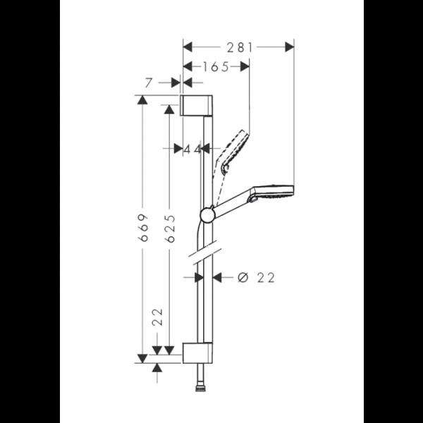 Комплект смесителей Hansgrohe SET Logis E 100 (d)