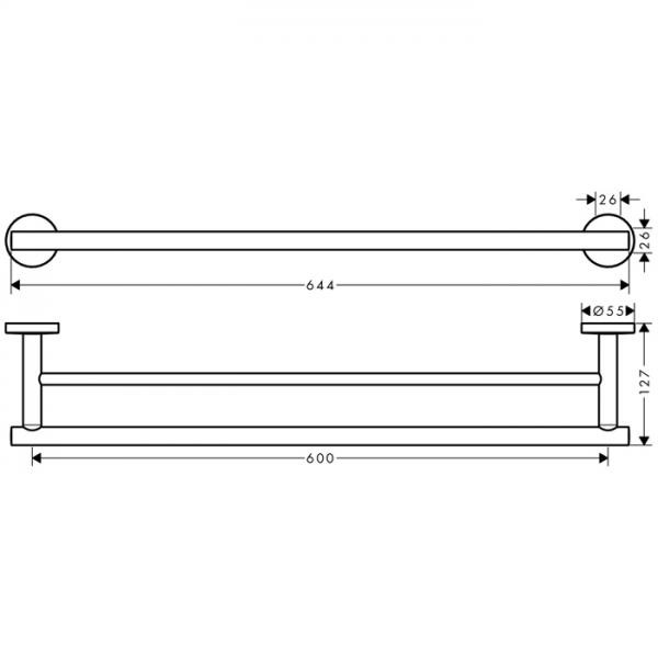 Набор аксессуаров hansgrohe Logis Set Universal 5-в-1 41728000