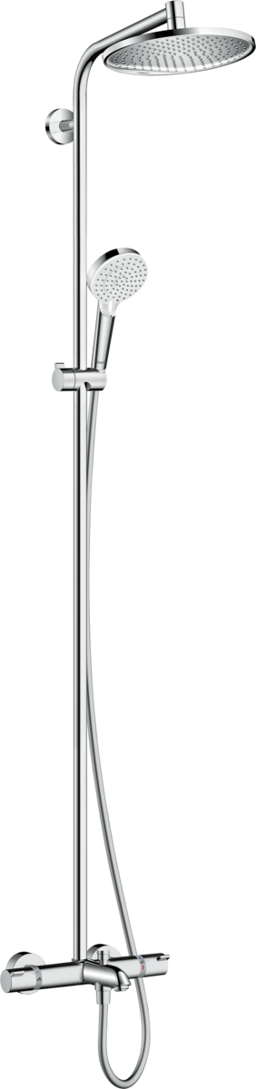Душевая система hansgrohe Crometta S 240 Showerpipe с термостатом 27320000