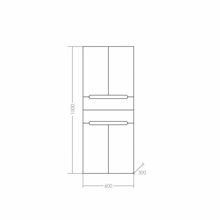Шкаф-колонна Санта Лондон 60 подвесная