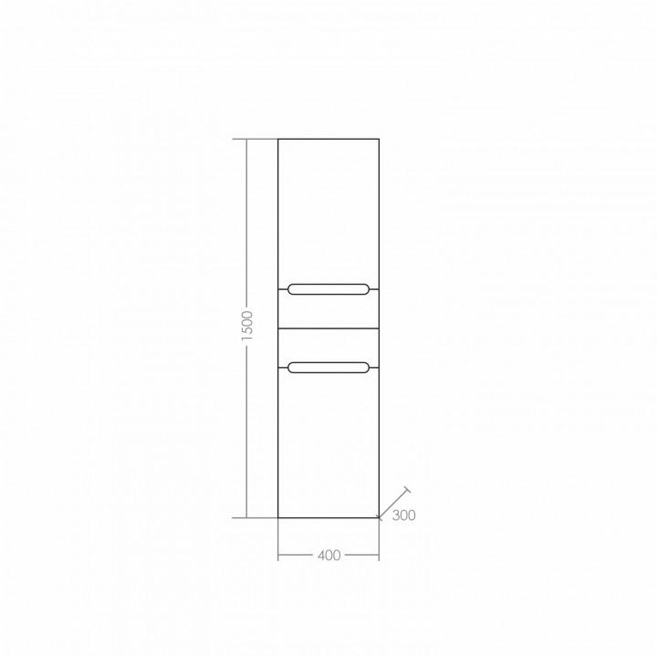 Шкаф-колонна Санта Лондон 40 подвесная