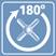 Угол поворота керамических кран-букс 180 градусов